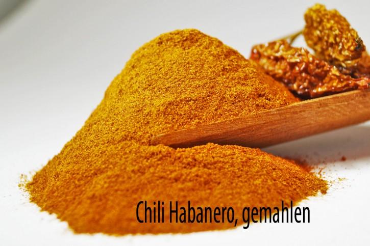 Chili Habanero, gemahlen