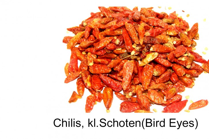 Chili Bird Eyes, kleine ganze  Schoten