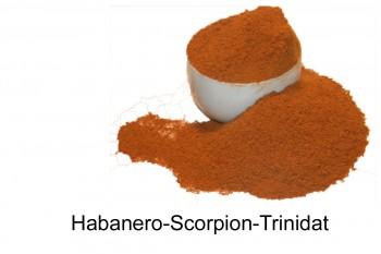 Chili- Habanero-Scorpion-Trinitad-Butch, gemahlen  20g