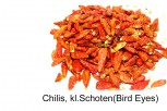Chilis- Bird-Eyes, kleine ganze  Schoten